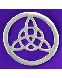 Triquetra Open Silver Altar Tile Mystic Convergence Metaphysical Supplies Metaphysical Supplies, Pagan Jewelry, Witchcraft Supply, New Age Spiritual Store