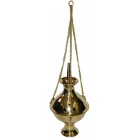 Hanging Brass Incense Burner - 6 Inch