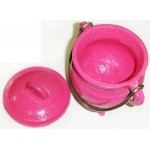 Pink Cast Iron Mini Cauldron with Lid at Mystic Convergence Metaphysical Supplies, Metaphysical Supplies, Pagan Jewelry, Witchcraft Supply, New Age Spiritual Store
