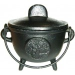Tree of Life Cast Iron 4.5 Inch Witches Cauldron at Mystic Convergence Metaphysical Supplies, Metaphysical Supplies, Pagan Jewelry, Witchcraft Supply, New Age Spiritual Store