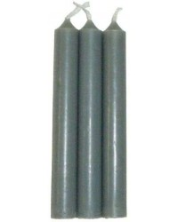 Grey Mini Taper Spell Candles