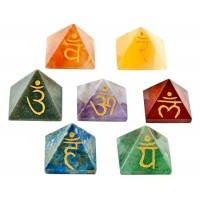 7 Chakra Gemstone Pyramid Set