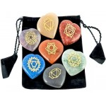 7 Heart Chakra Gem Stones in Velvet Pouch at Mystic Convergence Metaphysical Supplies, Metaphysical Supplies, Pagan Jewelry, Witchcraft Supply, New Age Spiritual Store