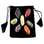 7 Chakra Rune Tumbled Stone Set in Velvet Pouch at Mystic Convergence Metaphysical Supplies, Metaphysical Supplies, Pagan Jewelry, Witchcraft Supply, New Age Spiritual Store