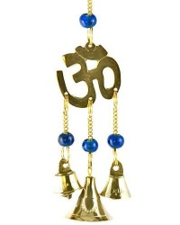 Om Symbol Brass Chime with Beads Mystic Convergence Metaphysical Supplies Metaphysical Supplies, Pagan Jewelry, Witchcraft Supply, New Age Spiritual Store