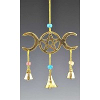 Triple Moon Brass Chime