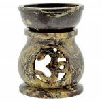 Om Carved Soapstone Oil Burner at Mystic Convergence Metaphysical Supplies, Metaphysical Supplies, Pagan Jewelry, Witchcraft Supply, New Age Spiritual Store
