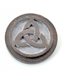 Triquetra SoapStone Altar Paten Tile Mystic Convergence Wiccan Supplies, Pagan Jewelry, Witchcraft Supplies, New Age Store