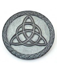 Triquetra Green Stone Altar Paten Tile Mystic Convergence Metaphysical Supplies Metaphysical Supplies, Pagan Jewelry, Witchcraft Supply, New Age Spiritual Store