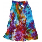 Tie Dye Cotton Boho Skirt at Mystic Convergence Metaphysical Supplies, Metaphysical Supplies, Pagan Jewelry, Witchcraft Supply, New Age Spiritual Store