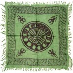 Celtic Earth Moon Phase Altar Cloth at Mystic Convergence Metaphysical Supplies, Metaphysical Supplies, Pagan Jewelry, Witchcraft Supply, New Age Spiritual Store