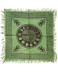 Celtic Earth Moon Phase Altar Cloth Mystic Convergence Wiccan Supplies, Pagan Jewelry, Witchcraft Supplies, New Age Store