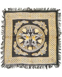 Goddess Pentacle Black and Gold Altar Cloth Mystic Convergence Wiccan Supplies, Pagan Jewelry, Witchcraft Supplies, New Age Store