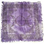 Purple Triple Moon Altar Cloth at Mystic Convergence Metaphysical Supplies, Metaphysical Supplies, Pagan Jewelry, Witchcraft Supply, New Age Spiritual Store