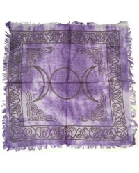 Purple Triple Moon Altar Cloth Mystic Convergence Metaphysical Supplies Metaphysical Supplies, Pagan Jewelry, Witchcraft Supply, New Age Spiritual Store