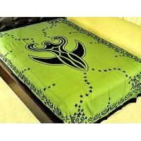 Nile Moon Goddess Green Tapestry