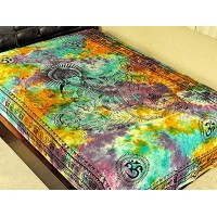 Goddess Saraswati Tie Dye Cotton Tapestry