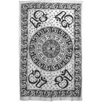 Om Symbol White Full Size Tapestry