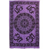 Om Symbol Purple Full Size Tapestry
