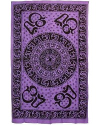 Om Symbol Purple Full Size Tapestry Mystic Convergence Metaphysical Supplies Metaphysical Supplies, Pagan Jewelry, Witchcraft Supply, New Age Spiritual Store
