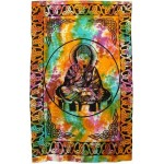 Buddha Tie Dye Full Size Cotton Tapestry at Mystic Convergence Metaphysical Supplies, Metaphysical Supplies, Pagan Jewelry, Witchcraft Supply, New Age Spiritual Store