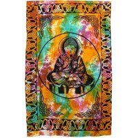 Buddha Tie Dye Full Size Cotton Tapestry