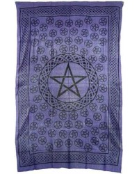Pentagram Purple Cotton Full Size Tapestry Mystic Convergence Metaphysical Supplies Metaphysical Supplies, Pagan Jewelry, Witchcraft Supply, New Age Spiritual Store