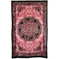 Celtic Knot Red Tie Dye Cotton Full Size Tapestry