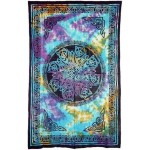 Celtic Knot Multi-Color Tie Dye Cotton Full Size Tapestry at Mystic Convergence Metaphysical Supplies, Metaphysical Supplies, Pagan Jewelry, Witchcraft Supply, New Age Spiritual Store