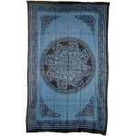 Celtic Knot Blue Cotton Full Size Tapestry at Mystic Convergence Metaphysical Supplies, Metaphysical Supplies, Pagan Jewelry, Witchcraft Supply, New Age Spiritual Store