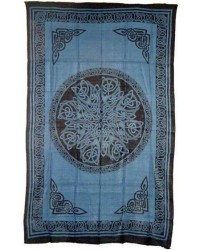 Celtic Knot Blue Cotton Full Size Tapestry Mystic Convergence Metaphysical Supplies Metaphysical Supplies, Pagan Jewelry, Witchcraft Supply, New Age Spiritual Store