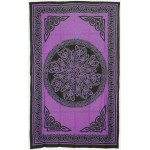 Celtic Knot Purple Cotton Full Size Tapestry at Mystic Convergence Metaphysical Supplies, Metaphysical Supplies, Pagan Jewelry, Witchcraft Supply, New Age Spiritual Store
