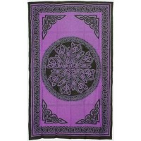 Celtic Knot Purple Cotton Full Size Tapestry
