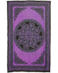Celtic Knot Purple Cotton Full Size Tapestry Mystic Convergence Metaphysical Supplies Metaphysical Supplies, Pagan Jewelry, Witchcraft Supply, New Age Spiritual Store
