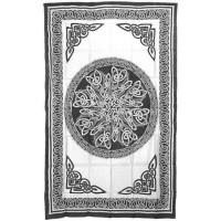 Celtic Knot White Tie Dye Cotton Full Size Tapestry