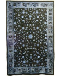 Zodiac Stars Blue Full Size Tapestry Mystic Convergence Metaphysical Supplies Metaphysical Supplies, Pagan Jewelry, Witchcraft Supply, New Age Spiritual Store
