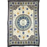 Floral Triple Moon Cotton Full Size Tapestry at Mystic Convergence Metaphysical Supplies, Metaphysical Supplies, Pagan Jewelry, Witchcraft Supply, New Age Spiritual Store