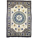 Floral Pentacle Cotton Full Size Tapestry at Mystic Convergence Metaphysical Supplies, Metaphysical Supplies, Pagan Jewelry, Witchcraft Supply, New Age Spiritual Store