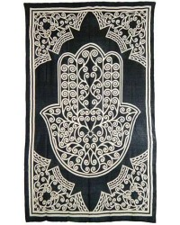 Hamsa Hand of Protection Cotton Full Size Bedspread
