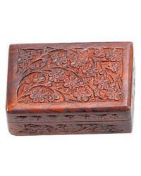 Floral Carved Wooden 6 Inch Box Mystic Convergence Metaphysical Supplies Metaphysical Supplies, Pagan Jewelry, Witchcraft Supply, New Age Spiritual Store