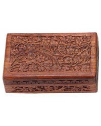 Floral Carved Wooden 8 Inch Box Mystic Convergence Metaphysical Supplies Metaphysical Supplies, Pagan Jewelry, Witchcraft Supply, New Age Spiritual Store