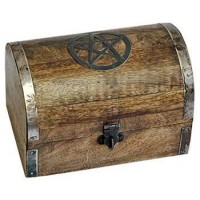 Pentacle Wooden Chest