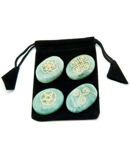 Celtic Aventrine Gemstone Set in Velvet Pouch at Mystic Convergence Metaphysical Supplies, Metaphysical Supplies, Pagan Jewelry, Witchcraft Supply, New Age Spiritual Store