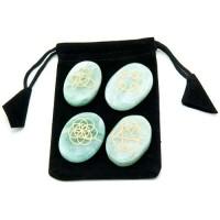 Celtic Jade Gemstone Set in Velvet Pouch