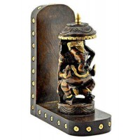 Lord Ganesh Carved Wood Wall Altar