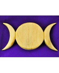 Triple Moon Wood Wall Plaque