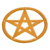 Pentacle Oval Wood Wall Plaque
