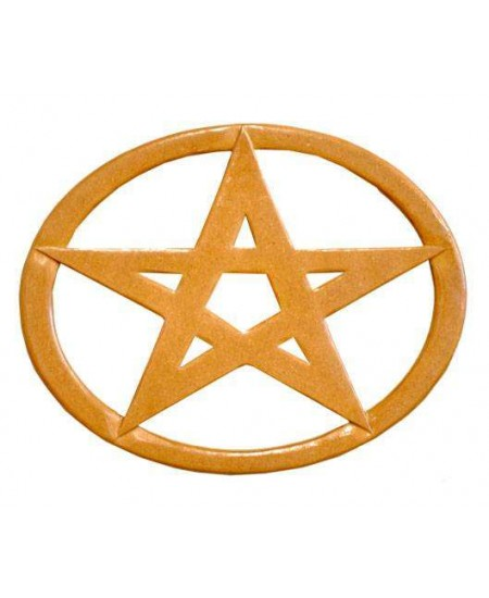 Pentacle Oval Wood Wall Plaque at Mystic Convergence Metaphysical Supplies, Metaphysical Supplies, Pagan Jewelry, Witchcraft Supply, New Age Spiritual Store