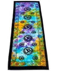 Om Symbol Tie Dye Cotton Yoga Mat Mystic Convergence Metaphysical Supplies Metaphysical Supplies, Pagan Jewelry, Witchcraft Supply, New Age Spiritual Store