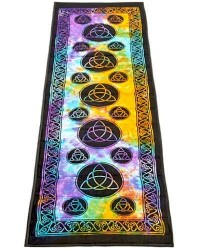 Triquetra Tie Dye Cotton Yoga Mat
